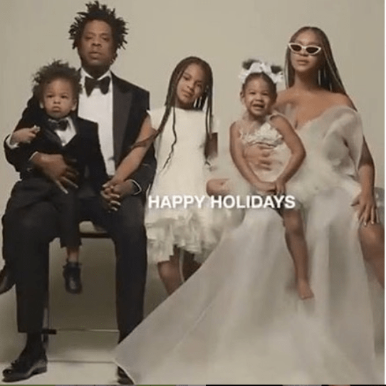 Jay-Z and Beyonce pictured together with their children in adorable family photo
