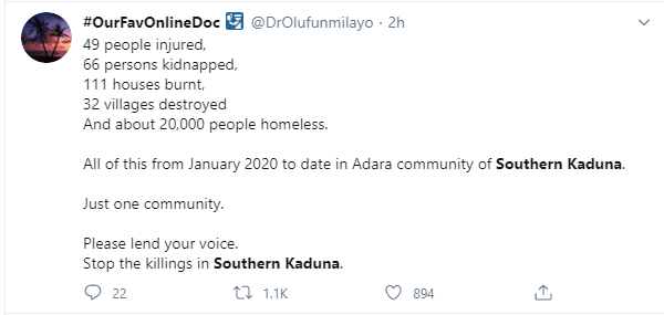 Kaduna First Lady called out for celebrating 80k followers on Twitter as #SouthernKaduna trends lindaikejisblog 8