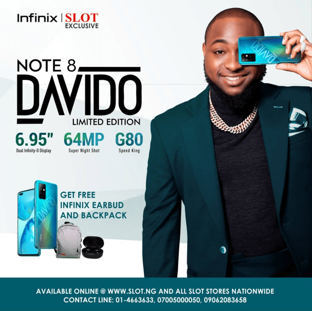 First celebrity Limited Edition Smartphone in Sub Sahara Africa: Davido Special Edition of Infinix NOTE 8