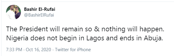 Nigeria does not begin in Lagos and ends in Abuja - Bashir El-Rufai says as he insisted that Buhari must remain lindaikejisblog 1