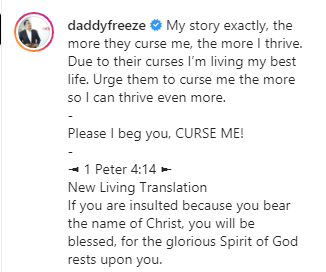 The more they curse me, the more I thrive - Daddy Freeze reacts to story of former CU student who is now successful even after Bishop Oyedepo cursed him lindaikejisblog 2