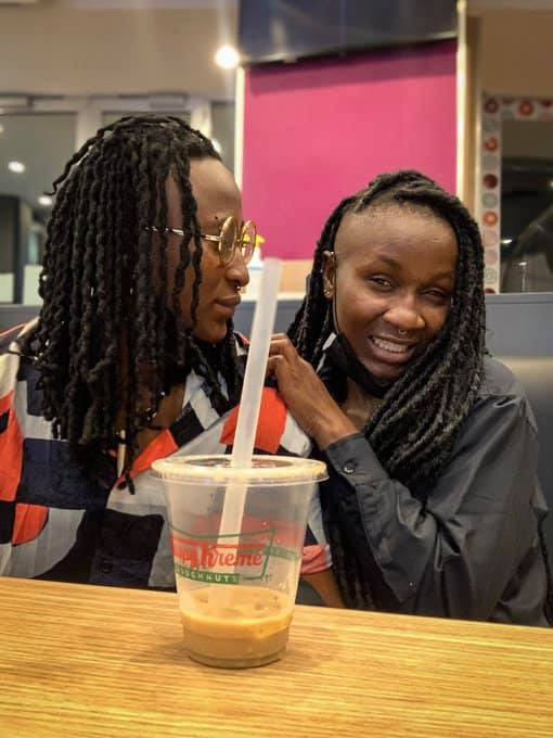 Nigerian LGBT Activist, Amara and her lesbian partner Olayinka marry by tattooing a ring on the fingers 2