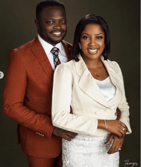 The Johnsons' star, Seun Osigbesan asks women to submit as she shares photos with her husband 2