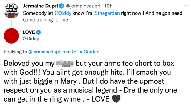 Your arms is too short to box with God. I'll smash you - Diddy responds to Jermaine Dupris Verzuz challenge 1
