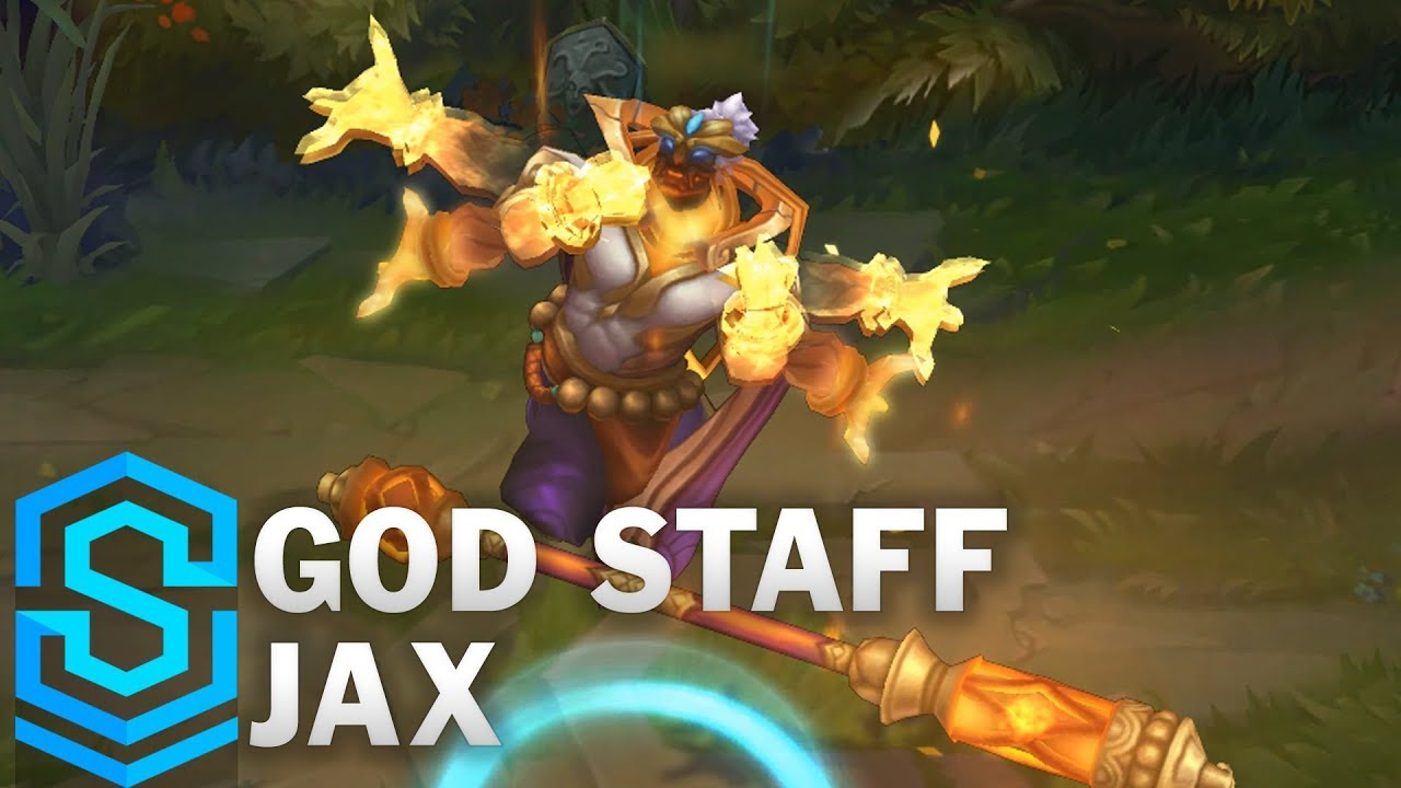 【LOL】ジャックスの新スキンのスポットライト動画が公開!!God Staff Jax Skin Spotlight -League of Legends-