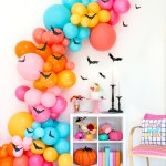 Diy Colorful Halloween Bat Balloon Garland A Kailo Chic Life