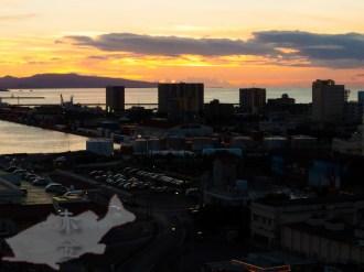 石垣港の夕陽