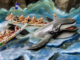 高知城に展示されている捕鯨のジオラマ