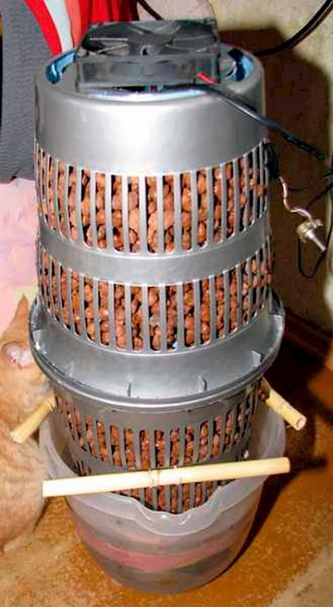 Увлажнитель воздуха из керамзита своими руками