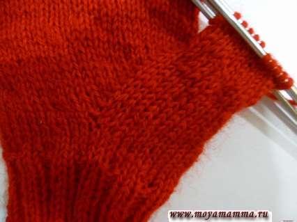 Вязание анатомического большого пальца при помощи индийского клина