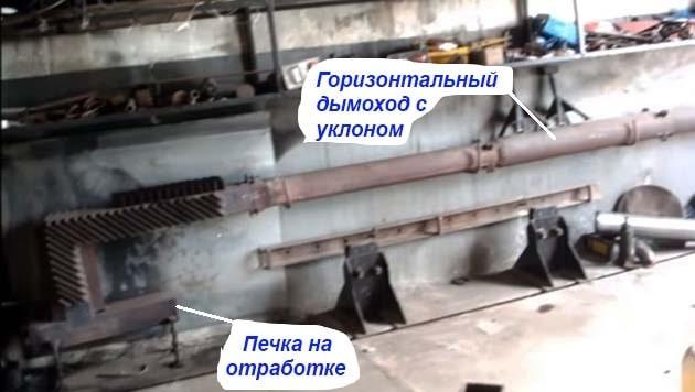 A garázskályha kéményének eszköze