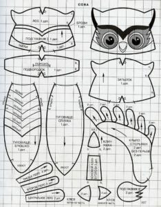 For a long time I have already ripened on the sort of owls. There are many of them on the Internet and all such beauties. I tried a lot of patterns, many still did not like the soul. As they say, there is no taste and the color of buddies is not. I made patterns for yourself, but the patterns are based on the patterns that saw on sites.