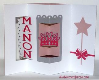 Bienvenue Manon lever Card