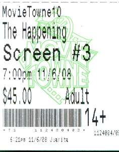 The Happening - The Ticket