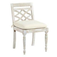 Ballard Designs Dining Chair Cushions Office Chairs Uk Ceylon Whitewash Side With Cushion