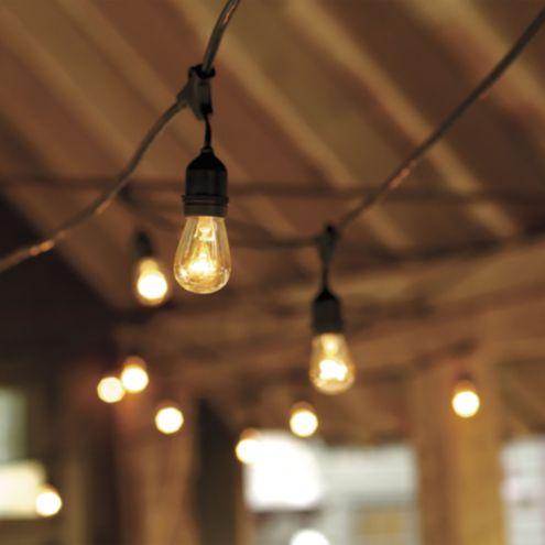 vintage string lights with