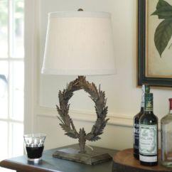 Ballard Designs Dining Chair Cushions Antique Butler Laurel Wreath Accent Lamp |