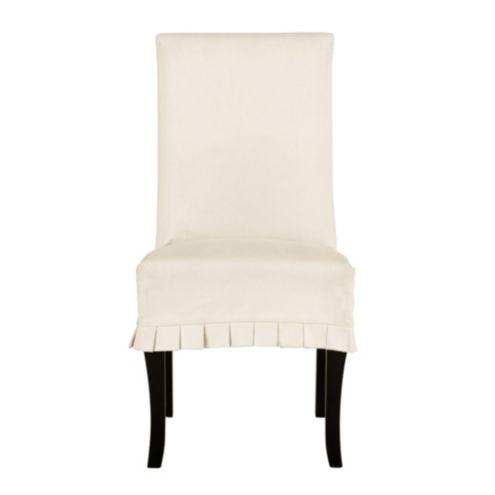 slipcover for armless chair shaggy bean bag slipcovers chairs ballard designs couture pleated