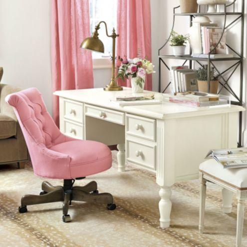 tufted desk chair table set elle ballard designs product 7