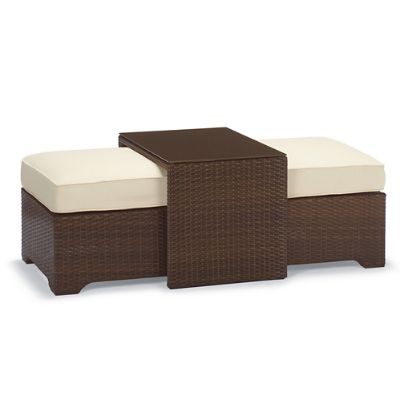 palermo coffee table with nesting ottomans in bronze finish