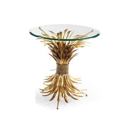 wheat sheaves accent table