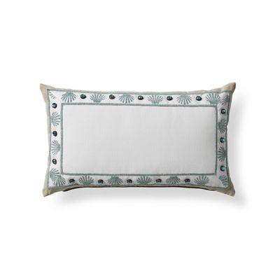 clamshell monogrammed outdoor lumbar