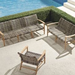 Frontgate Outdoor Lounge Chairs Yilan Chair Design Competition Isola In Natural Finish 3 Pc Sofa Set