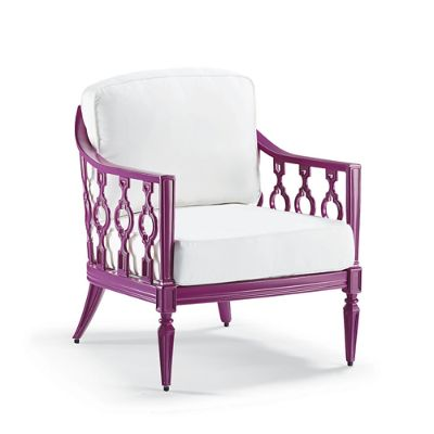 frontgate outdoor lounge chairs chair covers sizes avery with cushions in fuschia finish