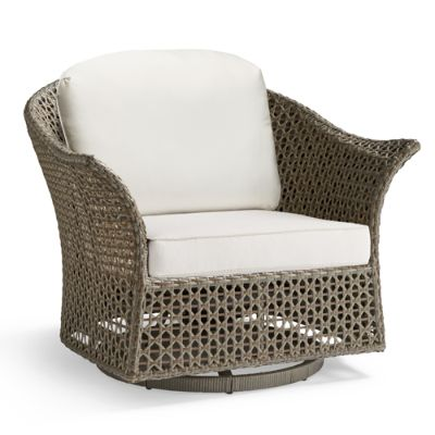 swivel chair cushions pyramat gaming maxwell woven cushion frontgate