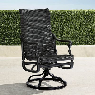 woven rocking chair the barbers set of two carlisle swivel rocker dining chairs frontgate