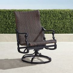 Frontgate Outdoor Lounge Chairs Free Desk Chair Set Of Two Carlisle Woven Swivel Rocker