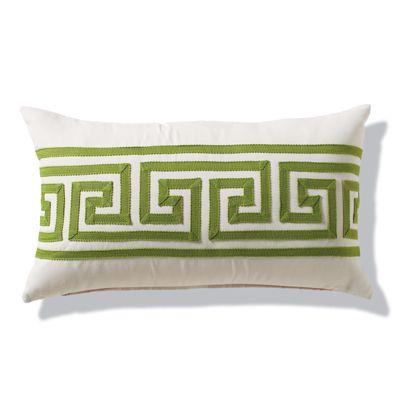 greek key gingko outdoor lumbar pillow