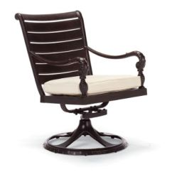 British Colonial Chair Rubber Casters Swivel Dining Arm With Cushion Frontgate