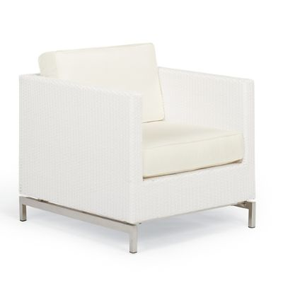 white lounge chair cushions clear covers metropolitan with in finish frontgate