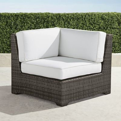 palermo rattan effect corner sofa set cover htl reclining modular seating in bronze finish frontgate chair with cushions