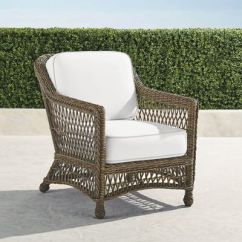 Frontgate Outdoor Lounge Chairs Folding Chair Rubber Feet Hampton With Cushions In Driftwood Finish