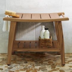 Teak Shower Chairs With Arms Amazon Bar Bench Grandin Road