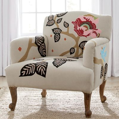 chair stand hsn code kneeling office pros and cons linnet embroidered armchair grandin road