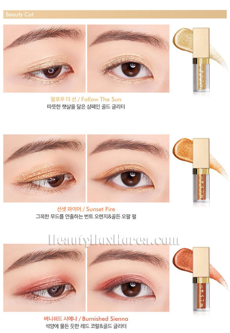 Stila All Fired Up : stila, fired, STILA, Fired, Glitter&Glow, Liquid, Shadow, 3items[Limited], Price, Shipping, Beauty, Korea