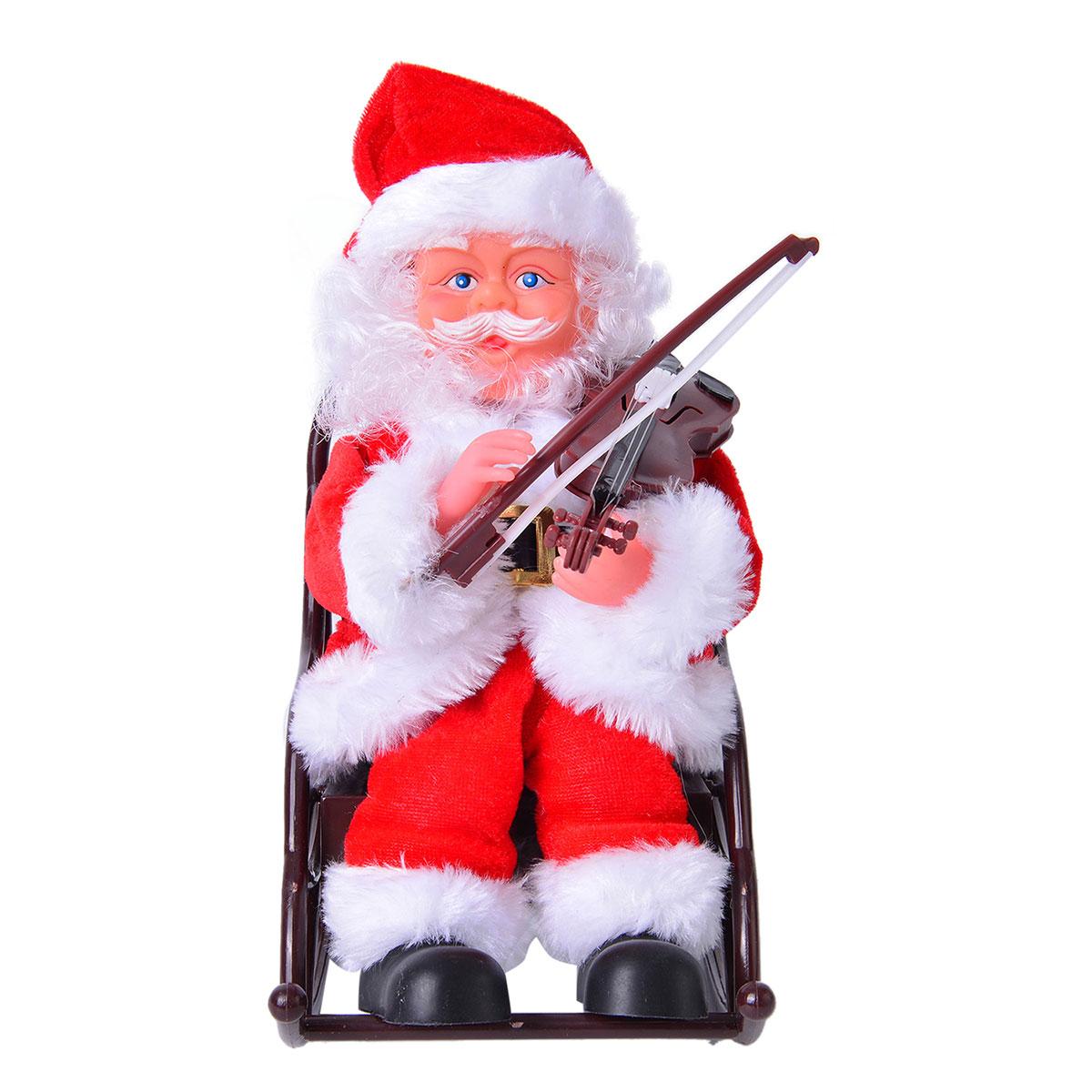 santa claus chair cheap club chairs violinist in rocking requires 3aa