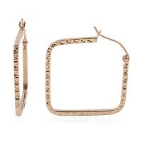 14K YG Square Hoop Earrings (1.5 g) | hoop | earrings ...