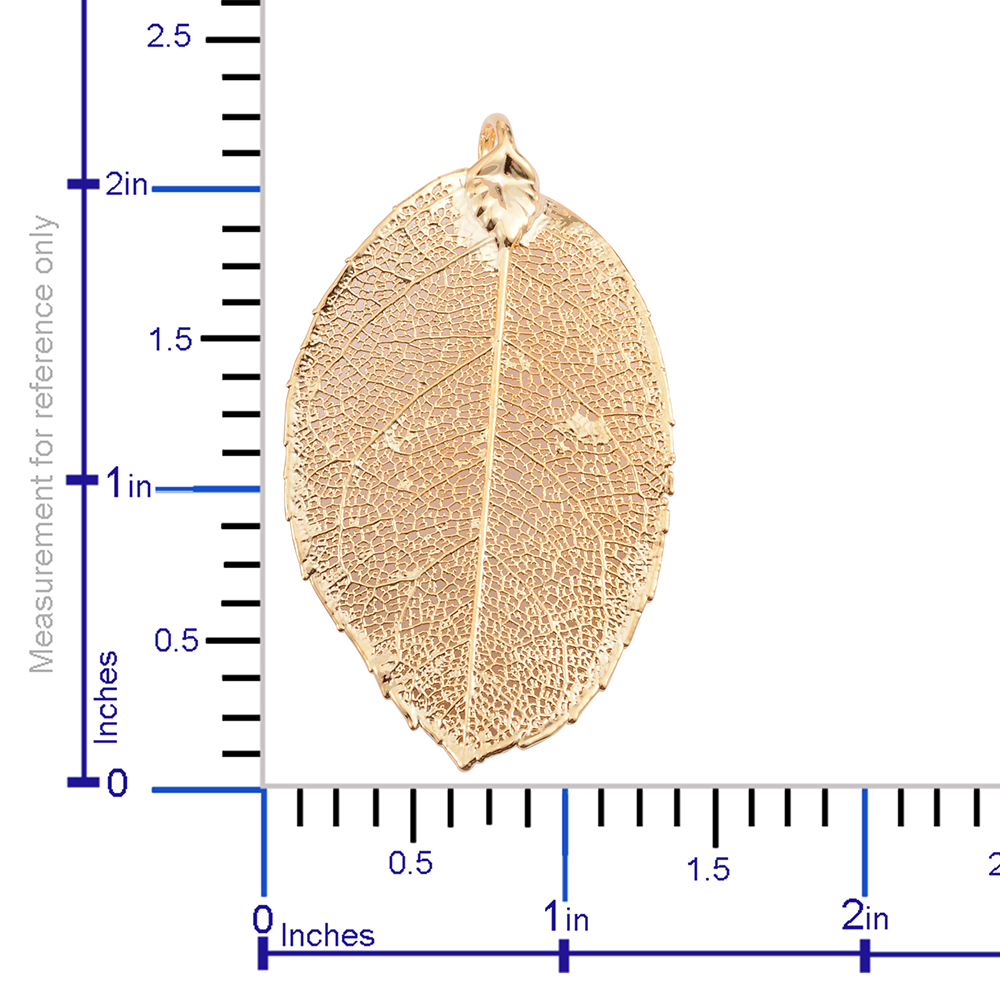 hight resolution of  nature s d or rose leaf dipped in 24k yg pendant without chain