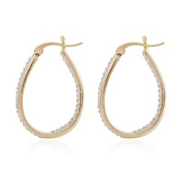 Austrian Crystal Goldtone Inside Out Hoop Earrings | hoop ...