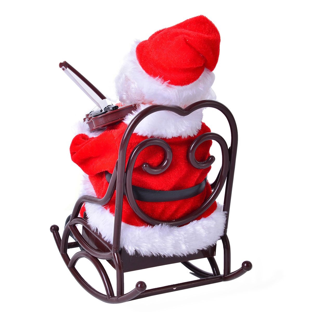 santa claus chair hi boy beach with canopy violinist in rocking requires 3aa