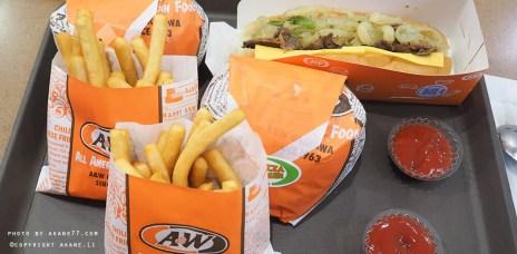 沖繩美食⎮A&W美式漢堡 速食餐廳 買熱狗送套餐