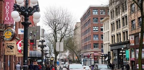 加拿大溫哥華「煤氣鎮Gastown」浪漫歐風街道散策