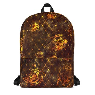 Diamond Rose Backpack - Maroon Gold