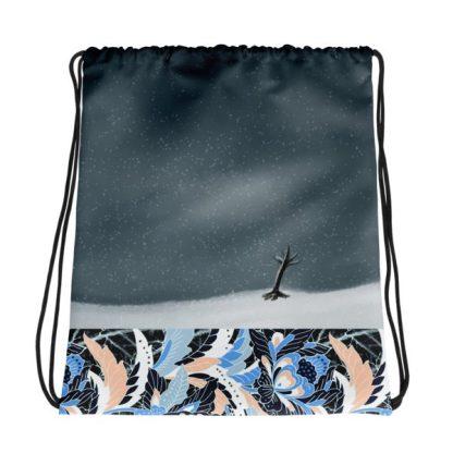 The Seven Kimono Drawstring Bag - Winter Back