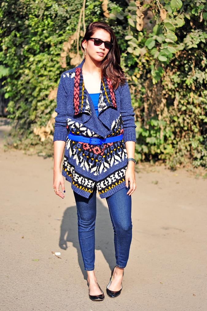 Futurist Blue - { #TieUpsStyle } | www.akanksharedhu.com | Full Front