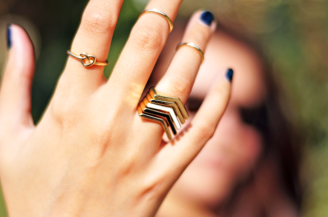 Futurist Blue - { #TieUpsStyle } | www.akanksharedhu.com | Closeup Rings